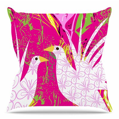 Fruit Birds by Patternmuse Throw Pillow Size: 18 H x 18 W
