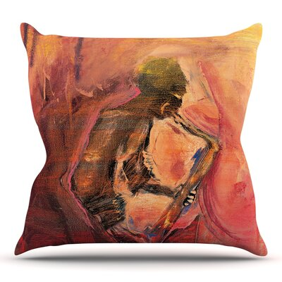 Catch the Wind by Josh Serafin Throw Pillow Size: 26 H x 26 W
