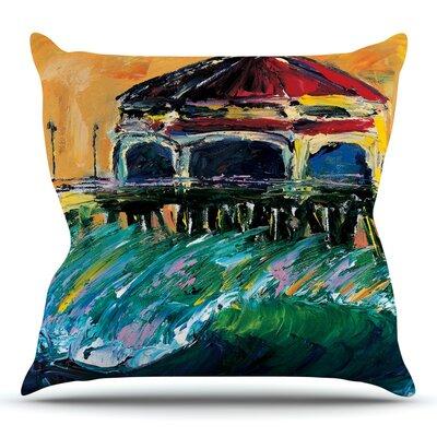 Offshore Beauty by Josh Serafin Throw Pillow Size: 18 H x 18 W