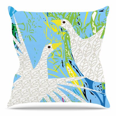 Pond Birds by Patternmuse Throw Pillow Size: 26 H x 26 W