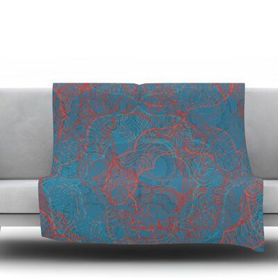 Mandala by Patternmuse 80 Fleece Blanket