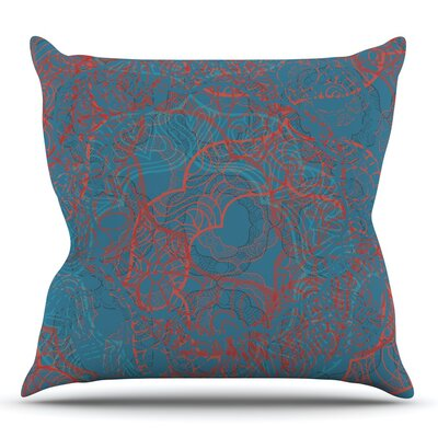 Mandala Teal by Patternmuse Throw Pillow Size: 26 H x 26 W