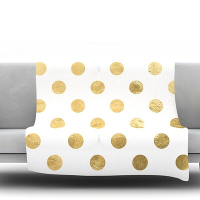 ScatteGold Fleece Blanket Size: 90 L x 90 W