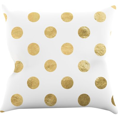 ScatteGold Throw Pillow Size: 16 H x 16 W