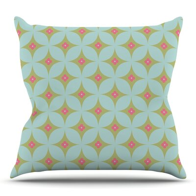 Retro Aquamarine Throw Pillow Size: 16 H x 16 W