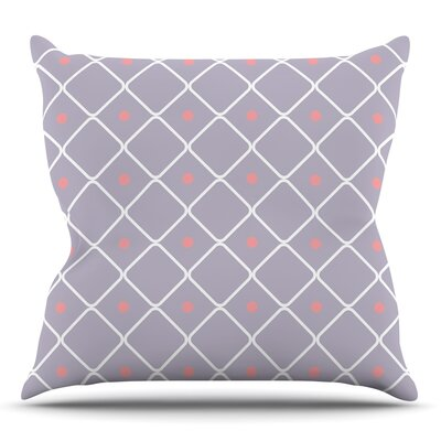 Lilac Web Throw Pillow Size: 18 H x 18 W