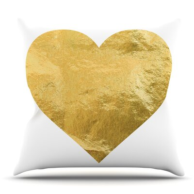 Heart of Gold Throw Pillow Size: 26 H x 26 W