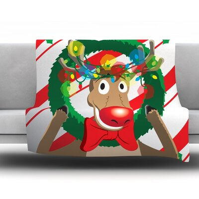 Reindeer 30 Seasonal Fleece Blanket Size: 60 L x 50 W