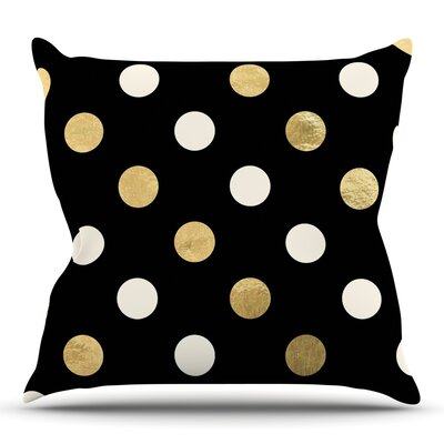 Golden Dots Throw Pillow Size: 26 H x 26 W