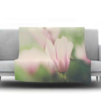 A Magnolia by Laura Evans Fleece Blanket Size: 60 L x 50 W