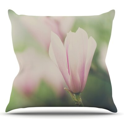 A Magnolia by Laura Evans Throw Pillow Size: 26 H x 26 W