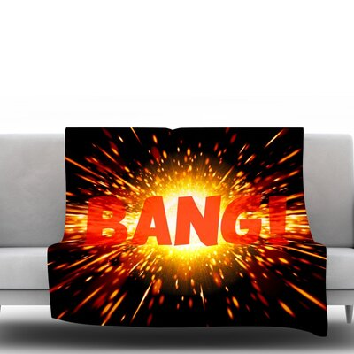 Bang Fleece Blanket Size: 40 L x 30 W