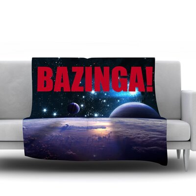 Bazinga Fleece Blanket Size: 80 L x 60 W