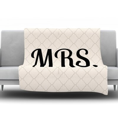 MRS Fleece Blanket Size: 60 L x 50 W