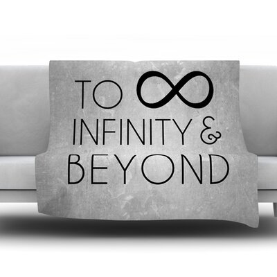 To Infinity & Beyond Fleece Blanket Size: 40 L x 30 W