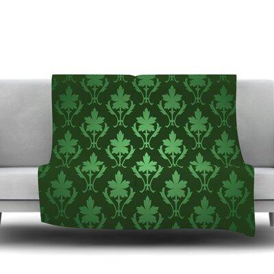 Emerald Damask Fleece Blanket Size: 40 L x 30 W