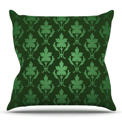 Emerald Damask Throw Pillow Size: 16 H x 16 W