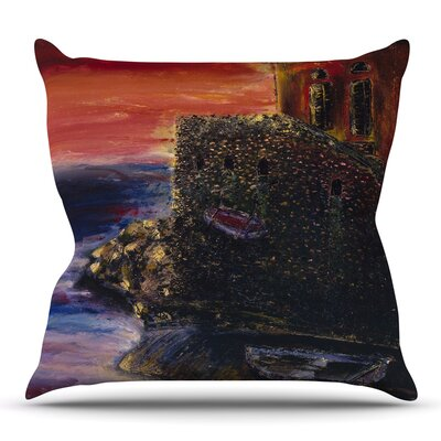 Seaside Village by Josh Serafin Throw Pillow Size: 18 H x 18 W