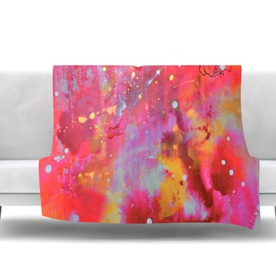 Falling Paradise by Kira Crees Fleece Blanket Size: 40 L x 30 W