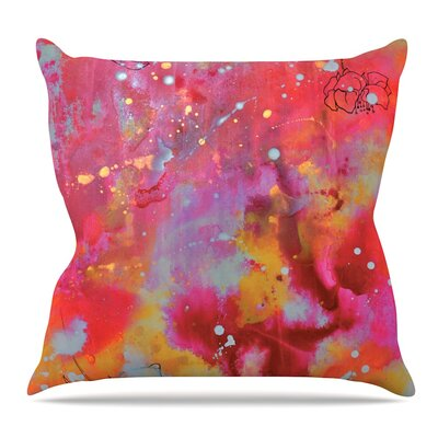 Falling Paradise by Kira Crees Throw Pillow Size: 18 H x 18 W