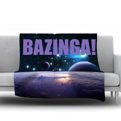 Bazinga Purple Fleece Blanket Size: 60 L x 50 W