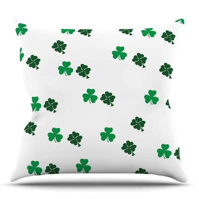 Shamrockin Throw Pillow Size: 18 H x 18 W