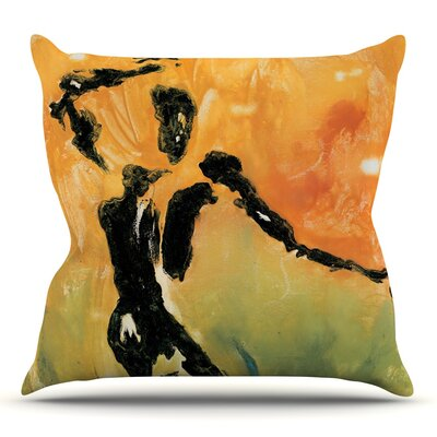 Hangin 5 by Josh Serafin Throw Pillow Size: 16 H x 16 W