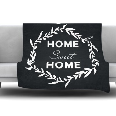 Home Sweet Home Fleece Blanket Size: 40 L x 30 W