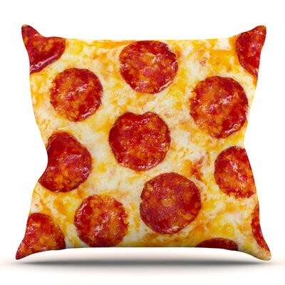 Pizza My Heart Throw Pillow Size: 16 H x 16 W
