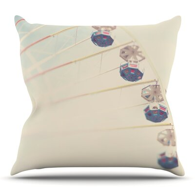 Its All A Blur by Laura Evans Throw Pillow Size: 18 H x 18 W