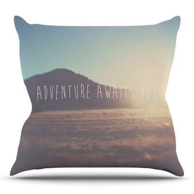 Adventure Awaits You by Laura Evans Throw Pillow Size: 26 H x 26 W