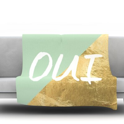 Oui Gold Fleece Blanket Size: 80 L x 60 W