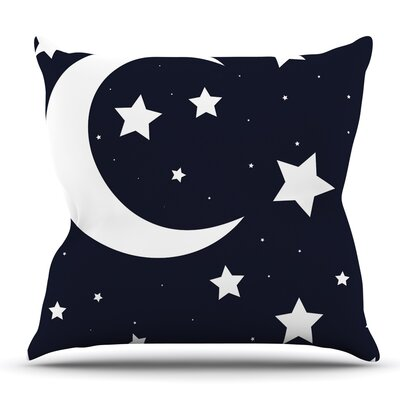 Moon & Stars Throw Pillow Size: 16 H x 16 W