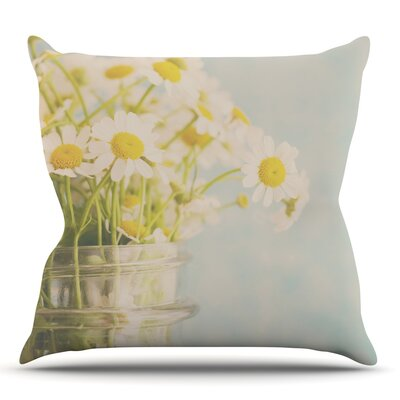 O Daisy by Laura Evans Throw Pillow Size: 18 H x 18 W