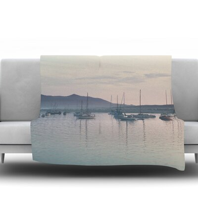 As the Sun Goes Down by Laura Evans Fleece Blanket Size: 60 L x 50 W