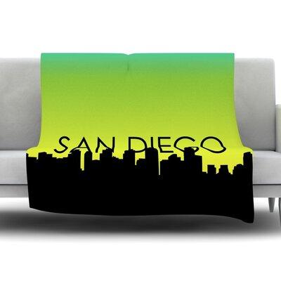 San Diego Fleece Blanket Size: 80 L x 60 W