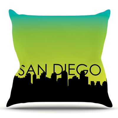 San Diego Throw Pillow Size: 16 H x 16 W