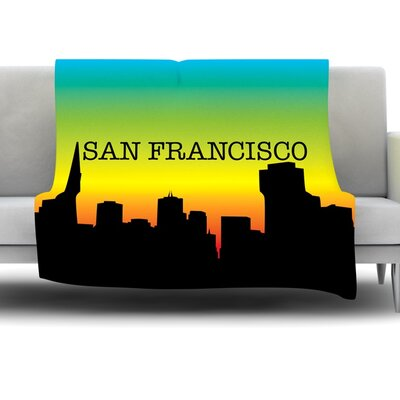 San Francisco Fleece Blanket Size: 80 L x 60 W