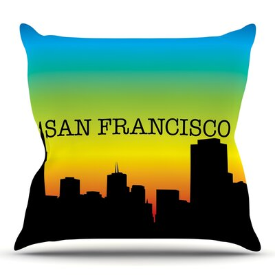 San Francisco Throw Pillow Size: 18 H x 18 W