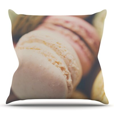 Macaroon Goodness by Laura Evans Throw Pillow Size: 16 H x 16 W