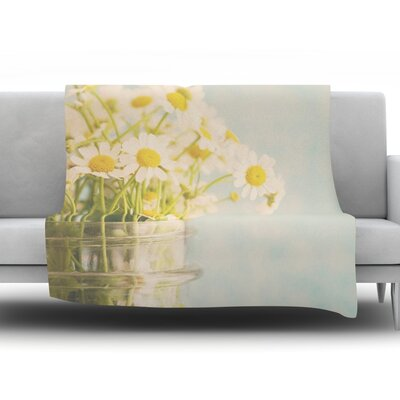 O Daisy by Laura Evans Fleece Blanket Size: 90 L x 90 W