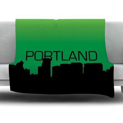 Portland Fleece Blanket Size: 60 L x 50 W