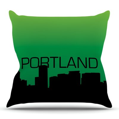 Portland Throw Pillow Size: 18 H x 18 W