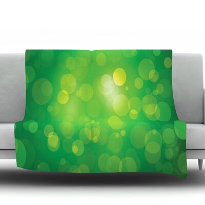 Radioactive Fleece Blanket Size: 90 L x 90 W