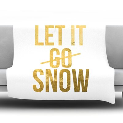 Let it Snow Fleece Blanket Size: 40 L x 30 W