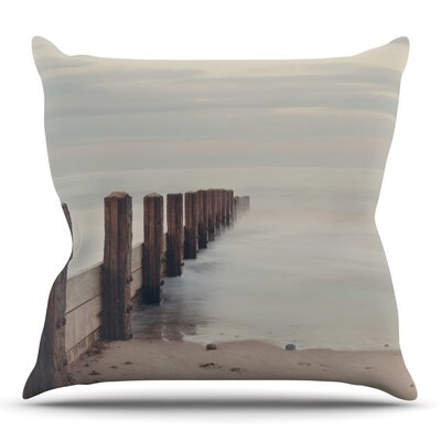 Brush Strokes by Laura Evans Throw Pillow Size: 26 H x 26 W