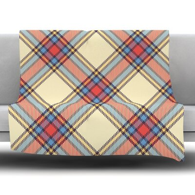 Plaid Fleece Blanket Size: 60 L x 50 W