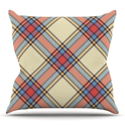 Plaid Throw Pillow Size: 16 H x 16 W