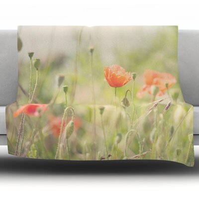 Fields of Remembrance by Laura Evans Fleece Blanket Size: 60 L x 50 W