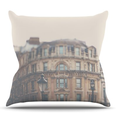 London Town by Laura Evans Throw Pillow Size: 26 H x 26 W